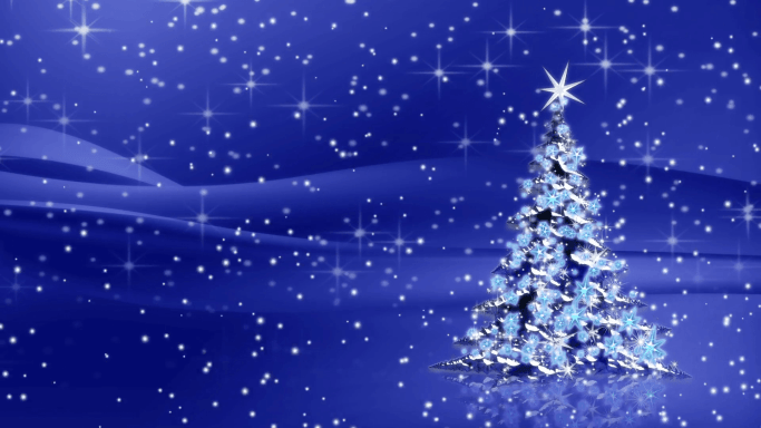 Blue Christmas Day Background