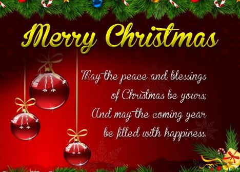 Merry Christmas Greetings 2018 For Friends, Card, Images, Messages ...