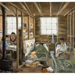 Jimmy Murakami painting of the Camp he spent 4 years in at Tule Lake Concentration camp during WW2