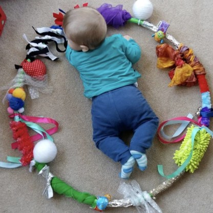 DIY sensory baby hula hoop for fun ideas girls craft DIY