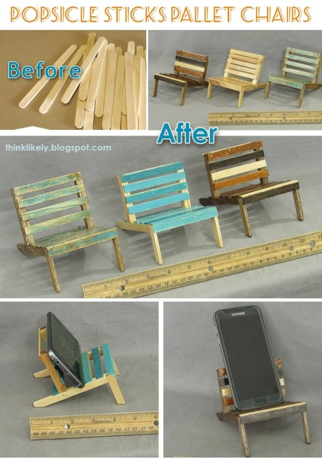 Popsicle stick chairs DIY tutorial