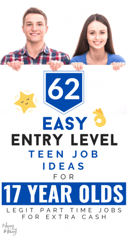 62 Easy Entry Level Part Time Teen Jobs For 17 Year Olds Merry For Money