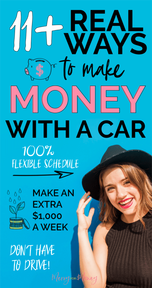 how to make money with your car, drive for money, make extra income, side hustle, get paid to drive, lyft driver, side hustles for cash