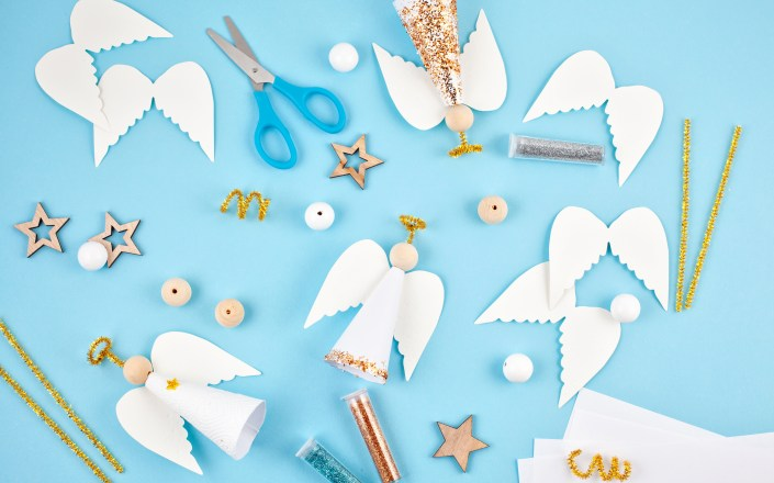 Creative hobby. DIY Christmas decoration. Process of making hand. DIY crafts to make and sell for money, extra hobby, side hustle, extra cash crafting