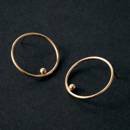 hoop-ball-earrings