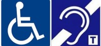 wheelchair and hearing loop logo