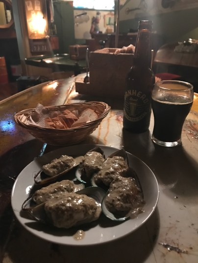 Mussels, bread and a nice porter - I am not complaining!