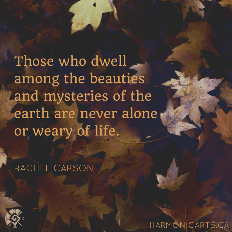 Those who dwell among the beauties and mysteries of the earth are never alone or weary of life.