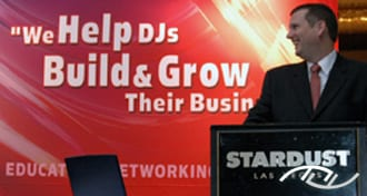 Wedding Entertainment Director® Peter Merry speaking at the 2005 ADJA National Meeting.