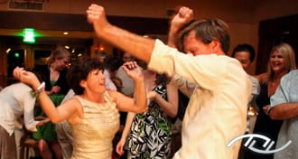 Amy's Mother, Karen, is having fun dancing with the Best Man, Nate, at Arroyo Trabuco Golf Club in Mission Viejo, CA. (Photo Credit: Rani Lu Photography)