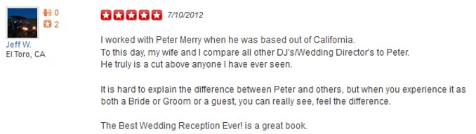Jeff W Yelp Review