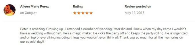 Aileen Perez Google+ Review-Gleam