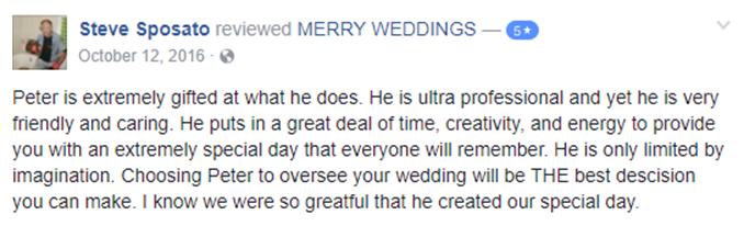 Steve Sposato Facebook Review