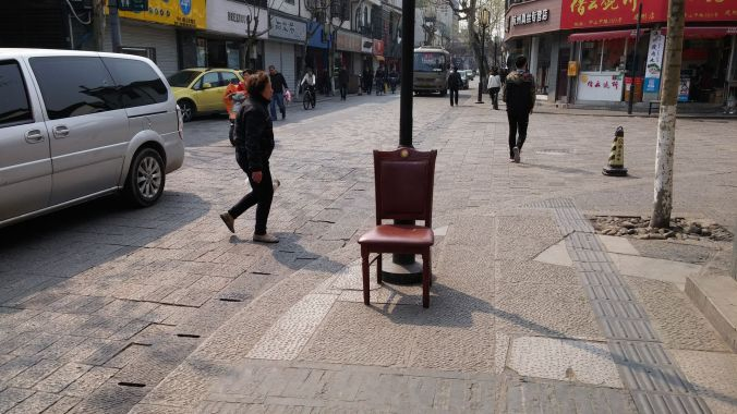 The streets were lined with chairs- we were wondering why, until my mother-in-law shared the secret.