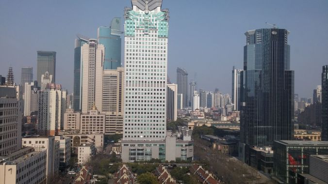 View from our hotel room in Shanghai