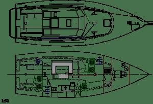 cordova 40 plan de pont et intérieur