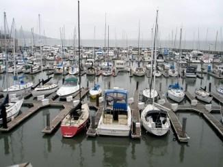 voiliers en hivernage au port
