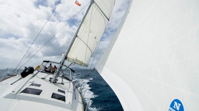 voiles north sails sur un voilier