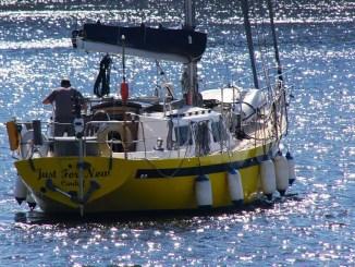 solitaire sur un voilier
