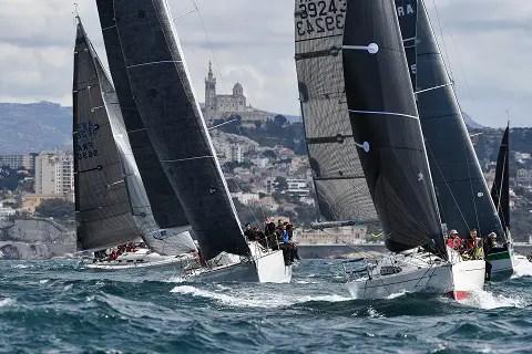 voiliers sur la Massilia Cup