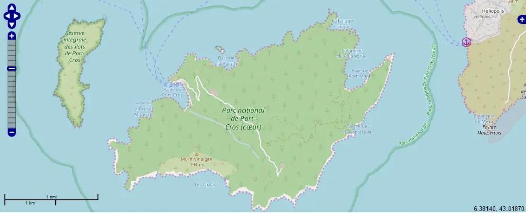 carte marine Port Cros