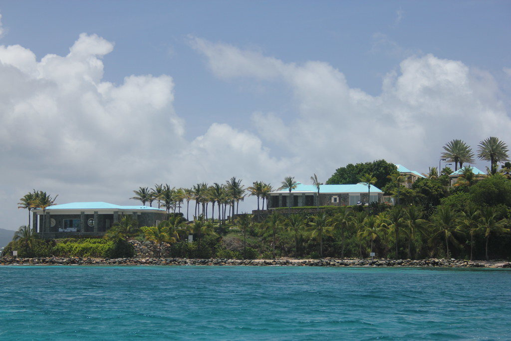 Little Saint James Island, where Jeffrey Epstein kept his victims