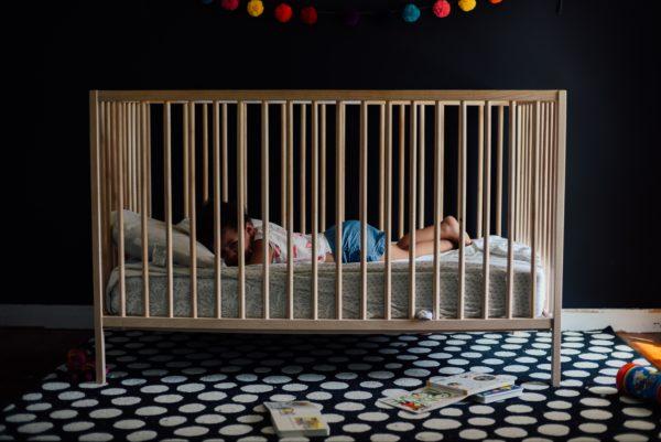 Bill Cosby shows Kristina Ruehli his infant child
