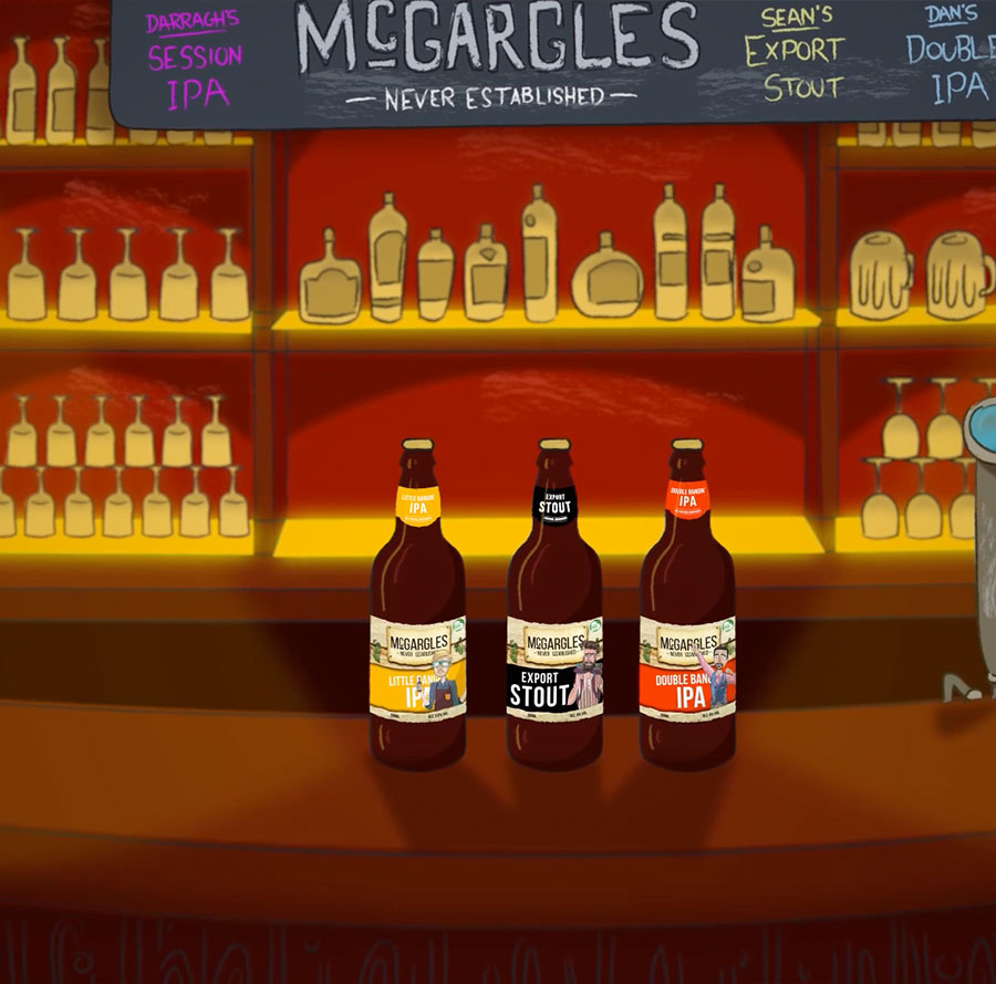 animation production - mcgargles rebrand