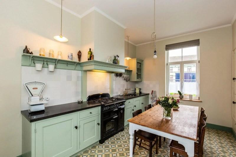 Handgemaakte keuken Hamme groen ruimtelijk