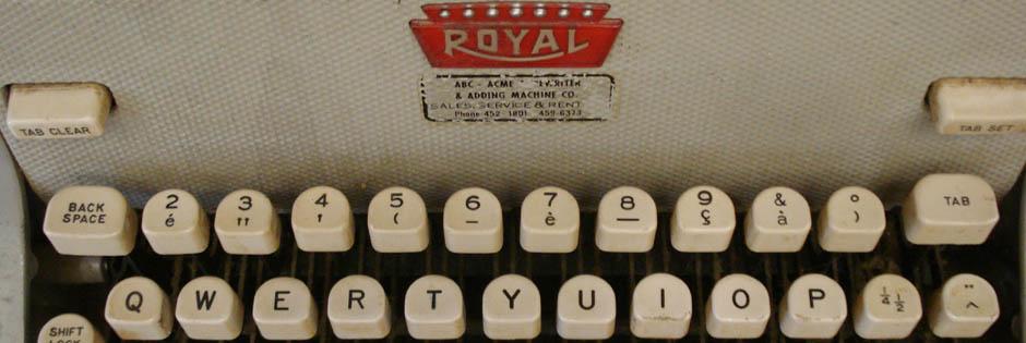 Closeup of Thomas Merton's Royal Typewriter; The Thomas Merton Center