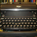Another typewriter displayed by the Thomas Merton Center. One of Merton's?