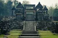the main gate to Ratu Boko temple. This place is often used to shoot colossal soap opera