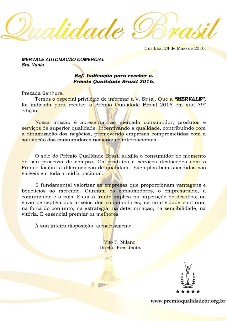 CARTA DE INDICAÇÃO MERVALE 2016 724x1024 INDICAÇÃO AO PRÊMIO QUALIDADE BRASIL 2016; (25/05/2016)