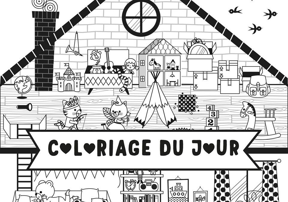 Coloriage Maison by Gwé