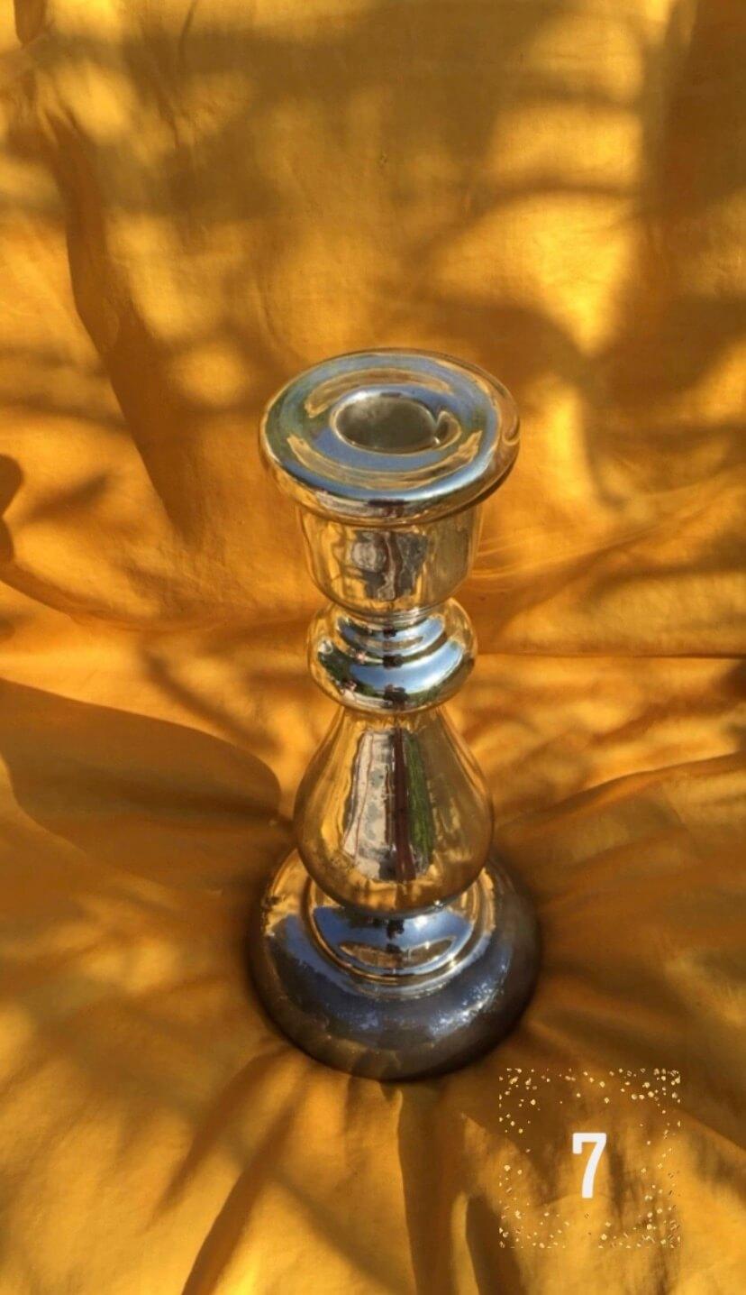 Bougeoir argenté calendrier de l'avent merveilles de marie décoration