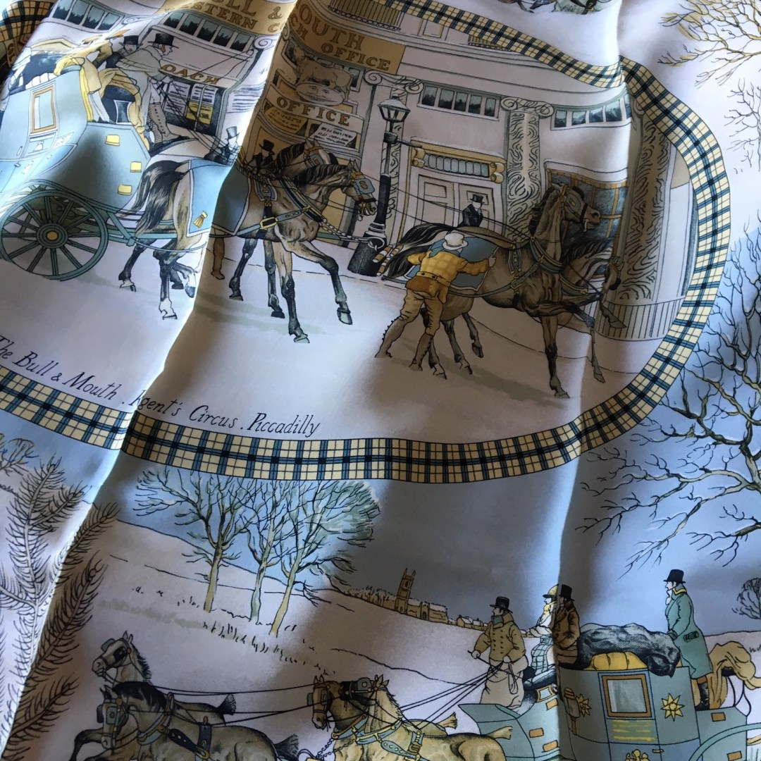 carré-hermès-l-hiver-en-poste-ledous-grsi-vintage-neuf