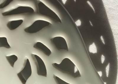 Coupe raffinée porcelaine ajourée