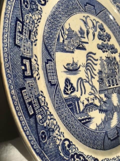 Assiette japonisante faïence anglaise