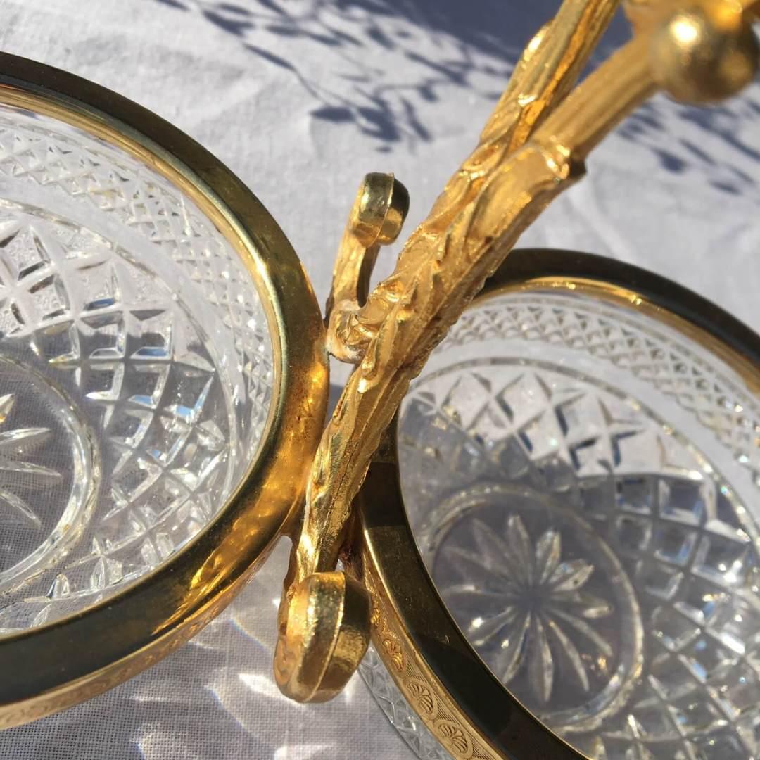 serviteur muet en métal doré