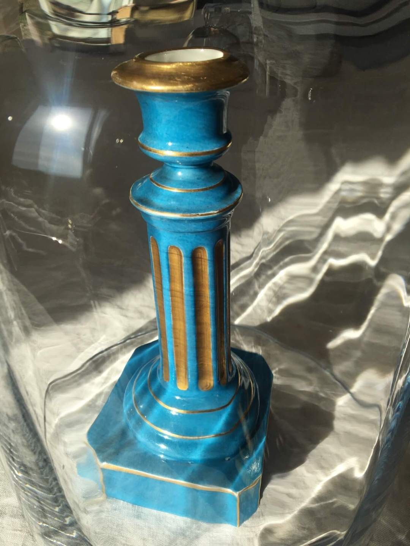 Bougeoir-Empire-porcelaine-bleu-ancien