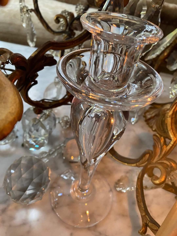 bougeoir cristal saint louis sirius merveilles de marie