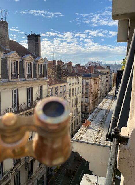Jumelles de Théâtre nacre et bronze doré Bordeaux Chavannaz