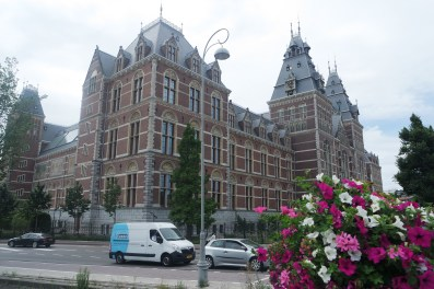 The letters were in front of the Rijksmuseum