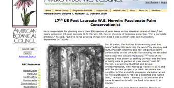 American Botanical Council Features Merwin