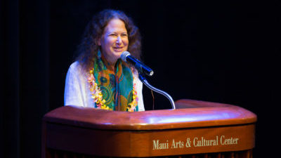 Jane Hirshfield reading poetry in The Green Room