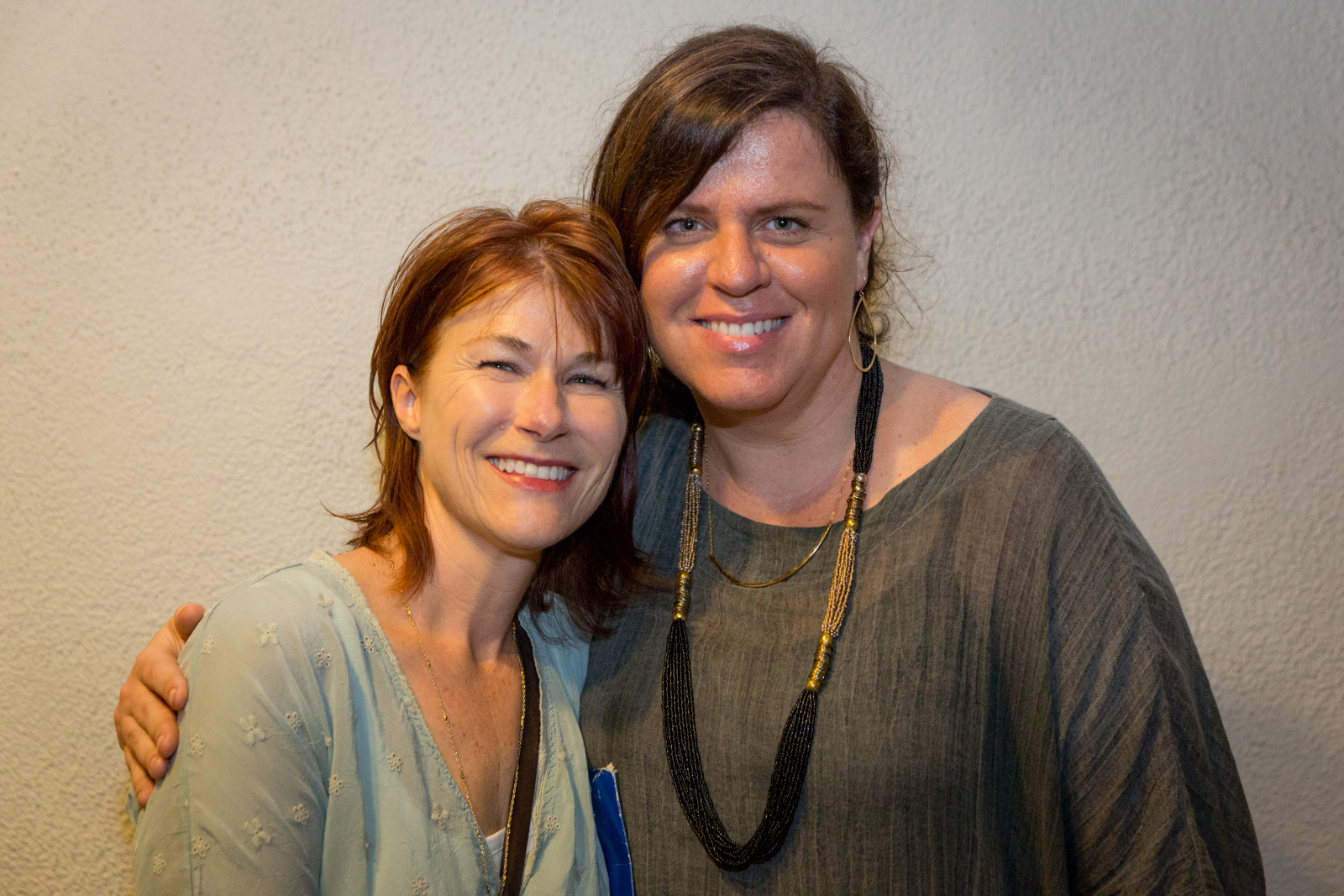 Conservancy Artist-at-Work Gwen Arkin and Director of Communications & Outreach Sara Tekula