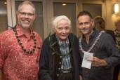 Executive Director Jason Denhart with W.S. Merwin and Alexander Maksik