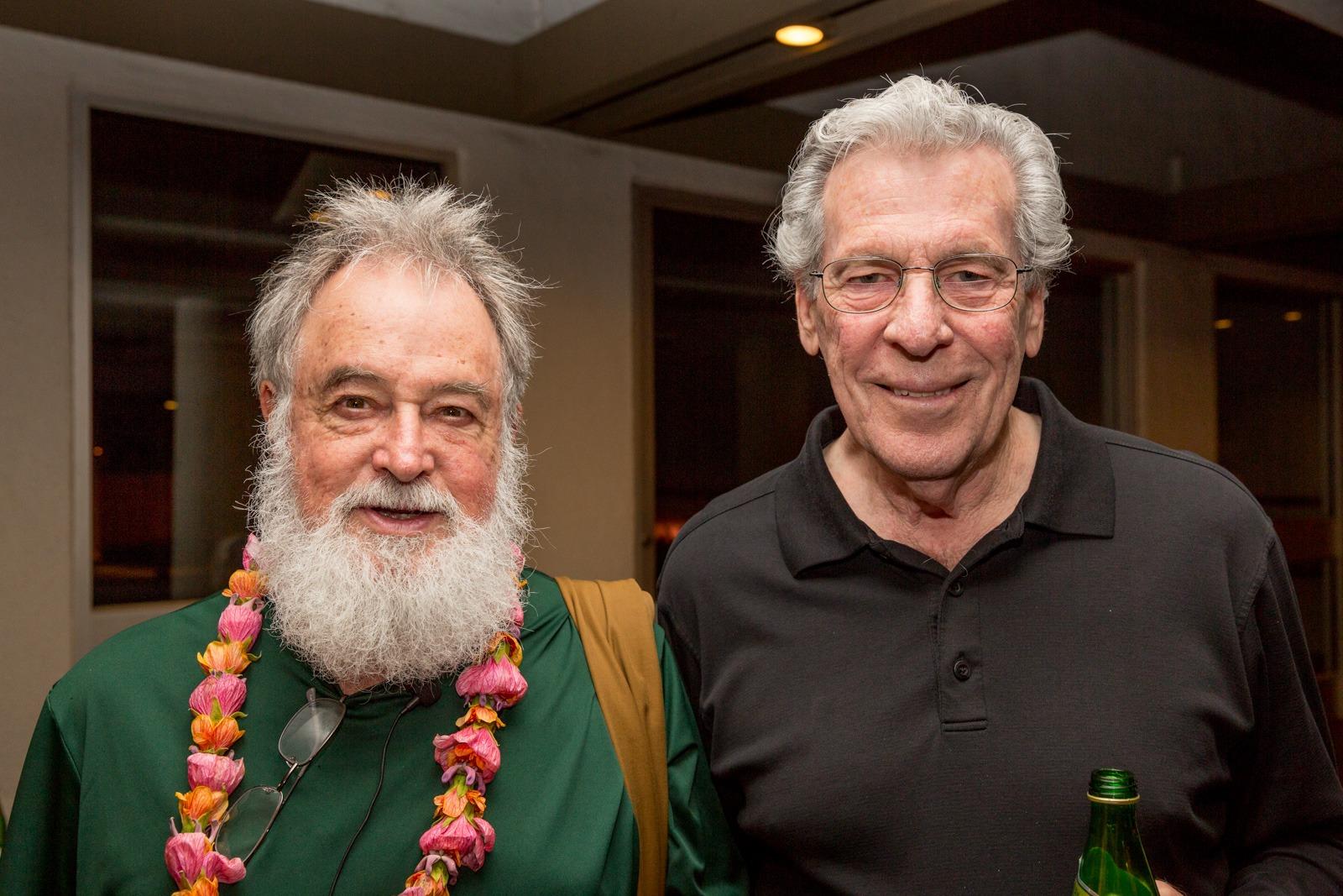 Bill Porter (aka Red Pine) with Dr. Gary Greenburg