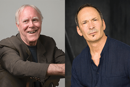 Robert Hass and Forrest Gander appear in The Green Room on Oahu and Maui in December 2019 as part of The Merwin Conservancy's arts and ecology salon series