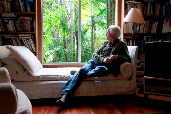 W.S. Merwin in his Library - Photo by Tom Sewell